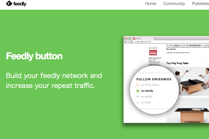 Feedly Button page