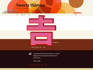 TwentyThirteen-screenshot